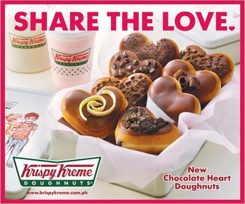 Photo of Chocolate Heart Doughnuts | By: Krispy Kreme