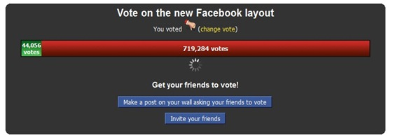 Photo of What Do you Think of the New FaceBook Layout? VOTE NOW!