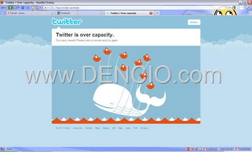 Photo of Oops! Twitter Over Capacity Error!
