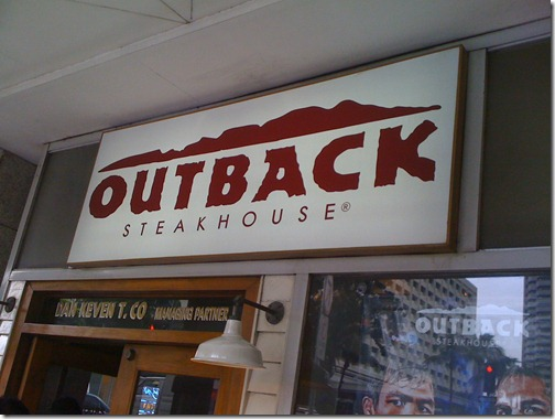 Photo of Great Lunch at Outback!