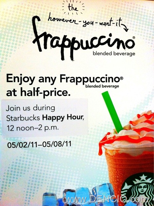 Photo of 50% Off on any Starbucks Frappuccino!