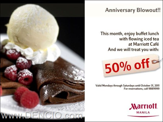 Photo of Marriott Café Manila's Buffet Sale! 50% Off on Lunch Buffet!