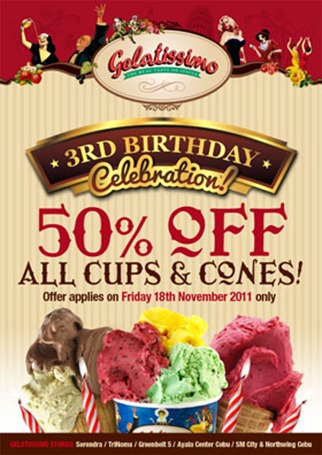 Photo of One Day Sale: 50% Off on Gelatissimo Cups and Cone Orders!
