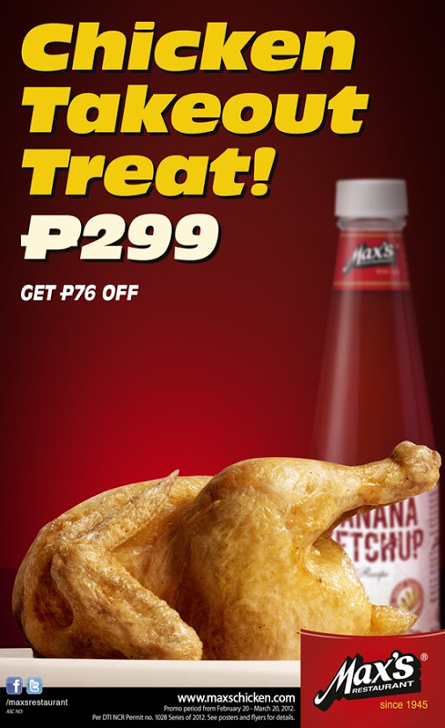Photo of Take Home a Whole Max's Fried Chicken for only P299!