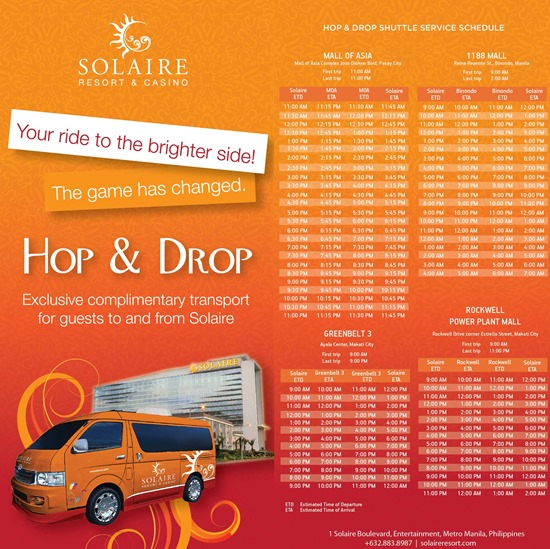 Photo of Free Shuttle Services from Solaire Resort and Casino