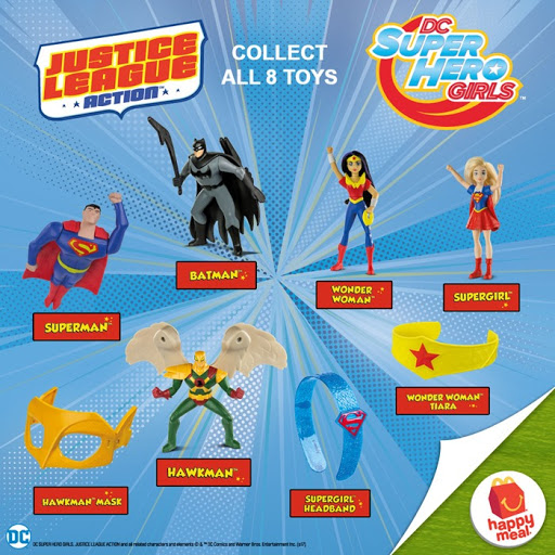 Photo of McDoPhilippines new DC Girls and Justice League Happy Meal toys (2017)