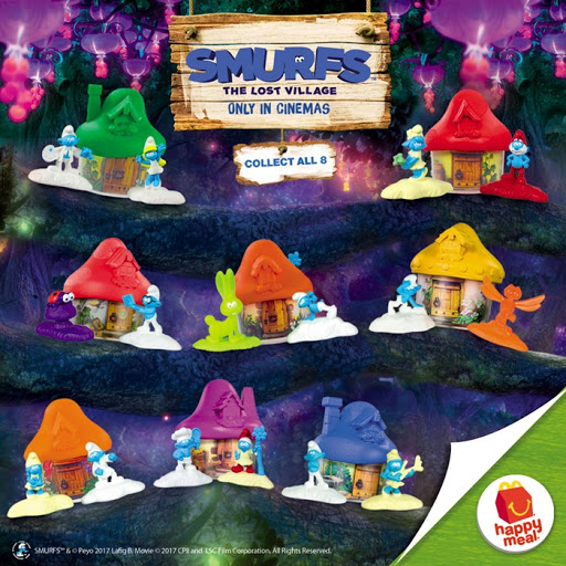 Photo of McDonalds Smurfs Happy Meal 2017